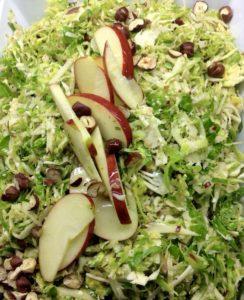 brussel sprout parmesan apple salad