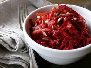 raw beetroot salad