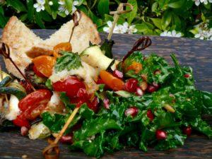 involtini and kale salad