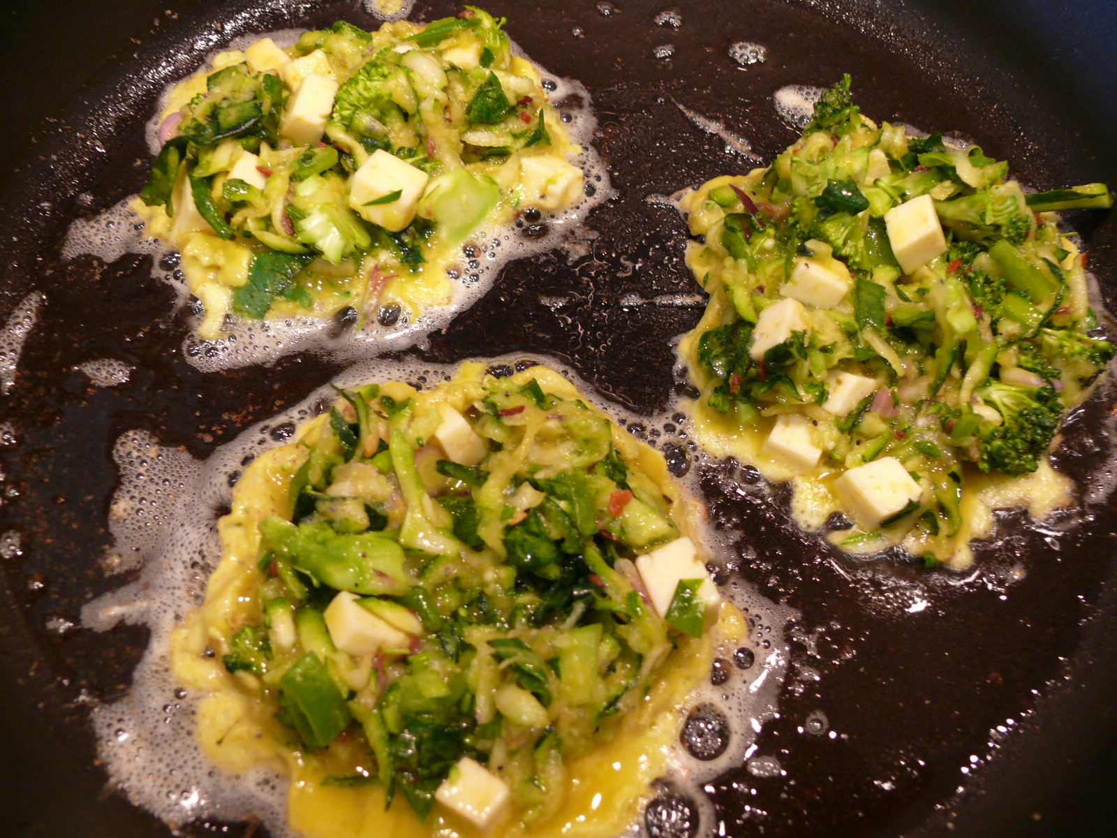 green vegetable fritters