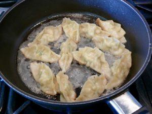 cooking potstickers