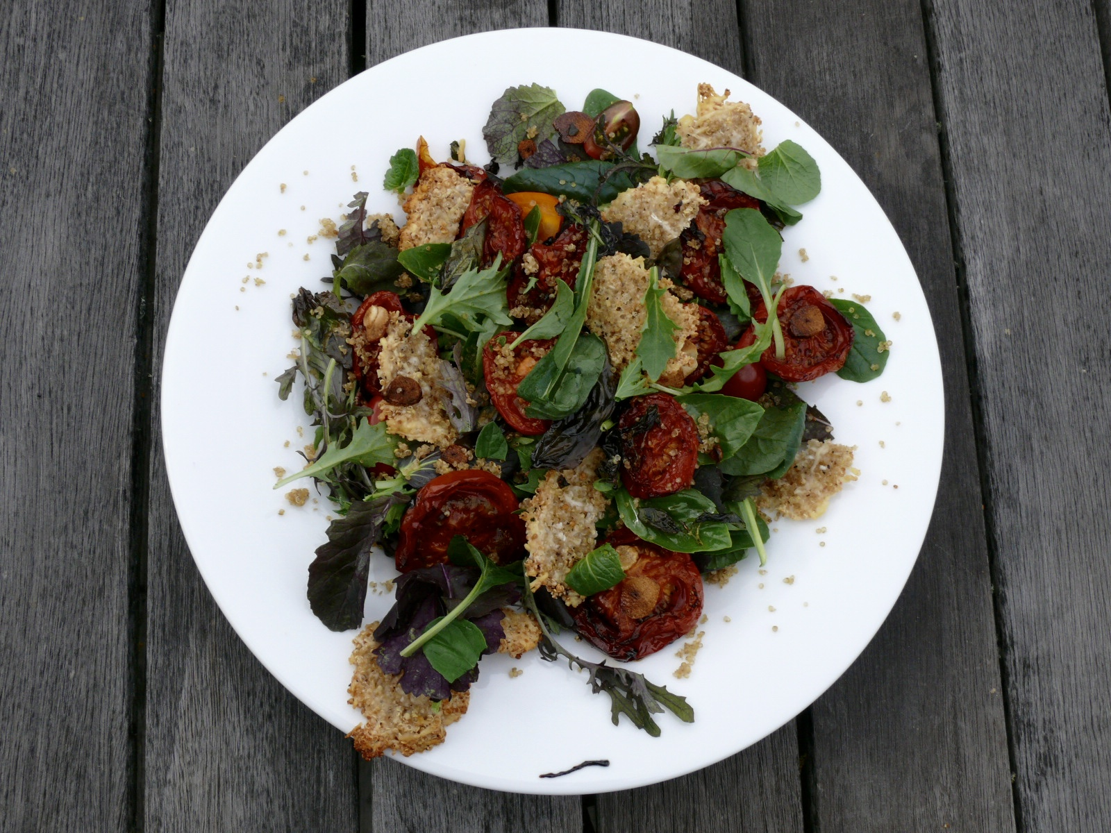 roast quinoa and tomato salad
