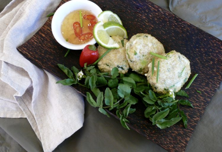 asian quinoa fish cakes