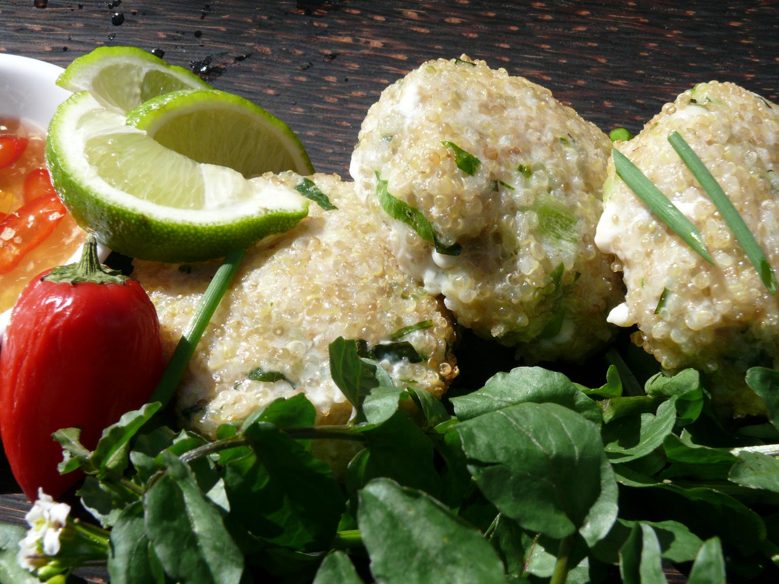 asian quinoa fish cakes