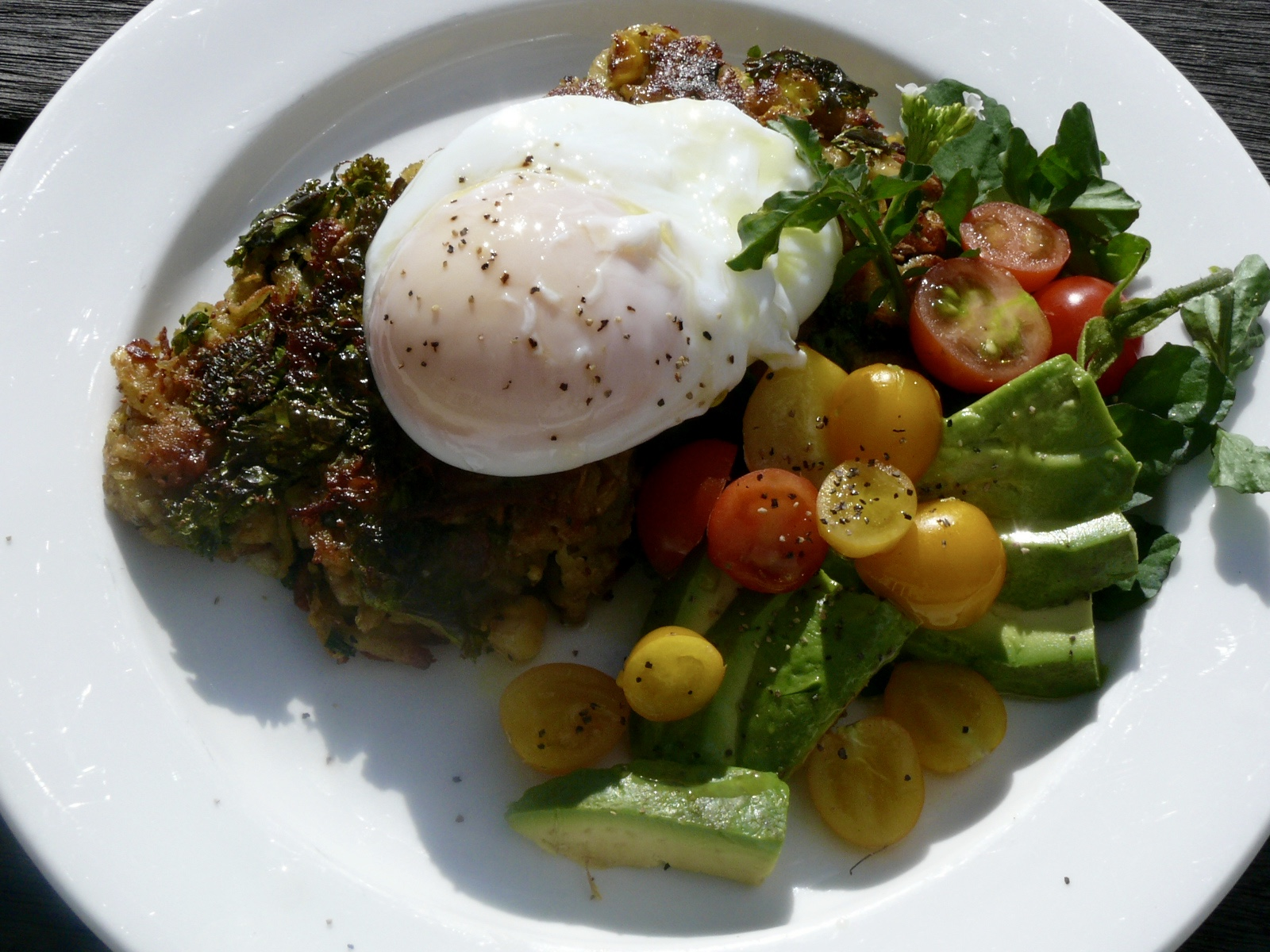 kumera,kale and corn fritters