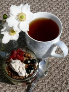 cashew cream breakfast jar