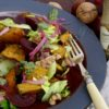 pumpkin plum and walnut salad