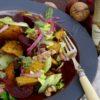 pumpkin plum and walnut salad