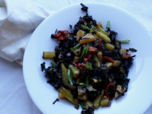pineapple kale and kumera salad