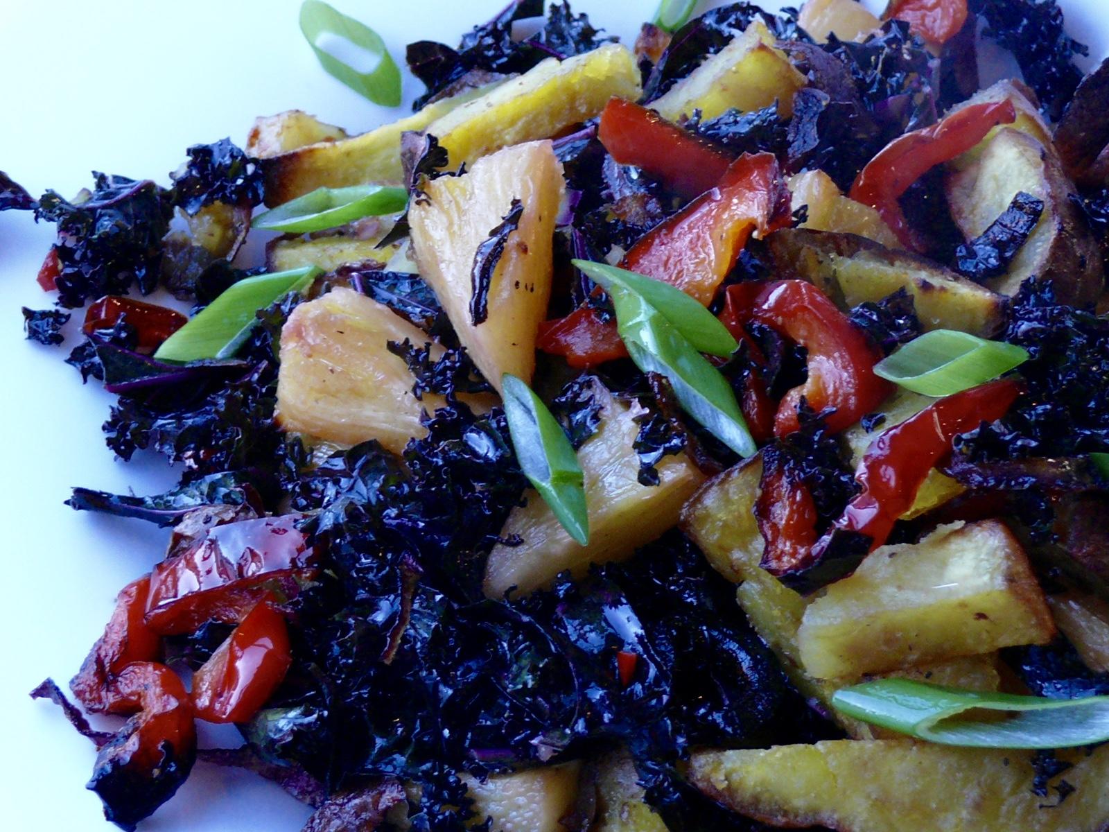 kale pineapple and kumera salad
