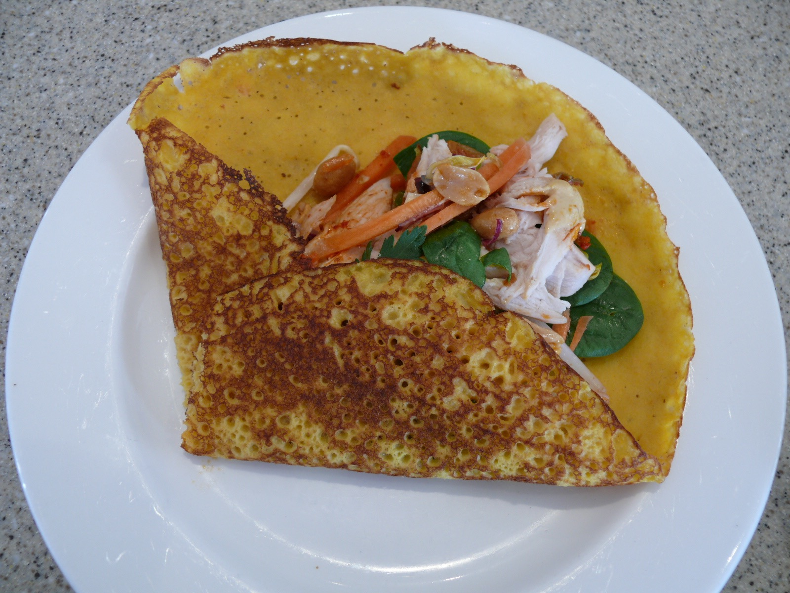korean carrot crepes