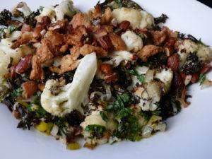 roast cauliflower salad