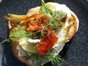 roast fennel and omatoes