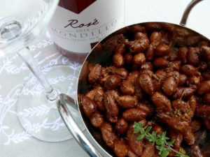 harissa and thyme toasted almonds
