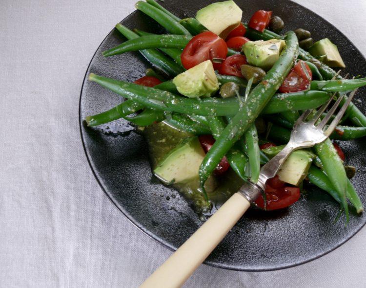 green bean and tarragon salad