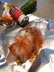 goan fish curry parcels