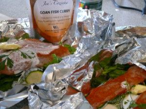 goan spiced fish parcels