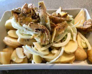 potato fennel and artichoke gratin