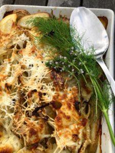 potato fennel artichoke gratin