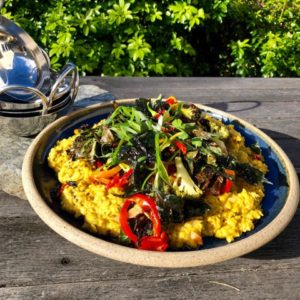 dal and roast vegetables