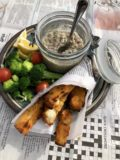 Smoked Fish in Polenta Chips