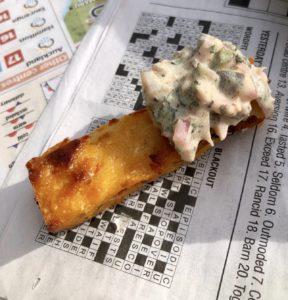 polenta fish in chips