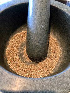 ground peppercorns for gravlax
