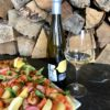 salmon gravlax and Te Amo pinot gris