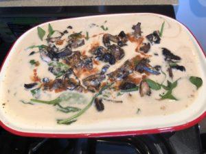 tahini eggplant bake
