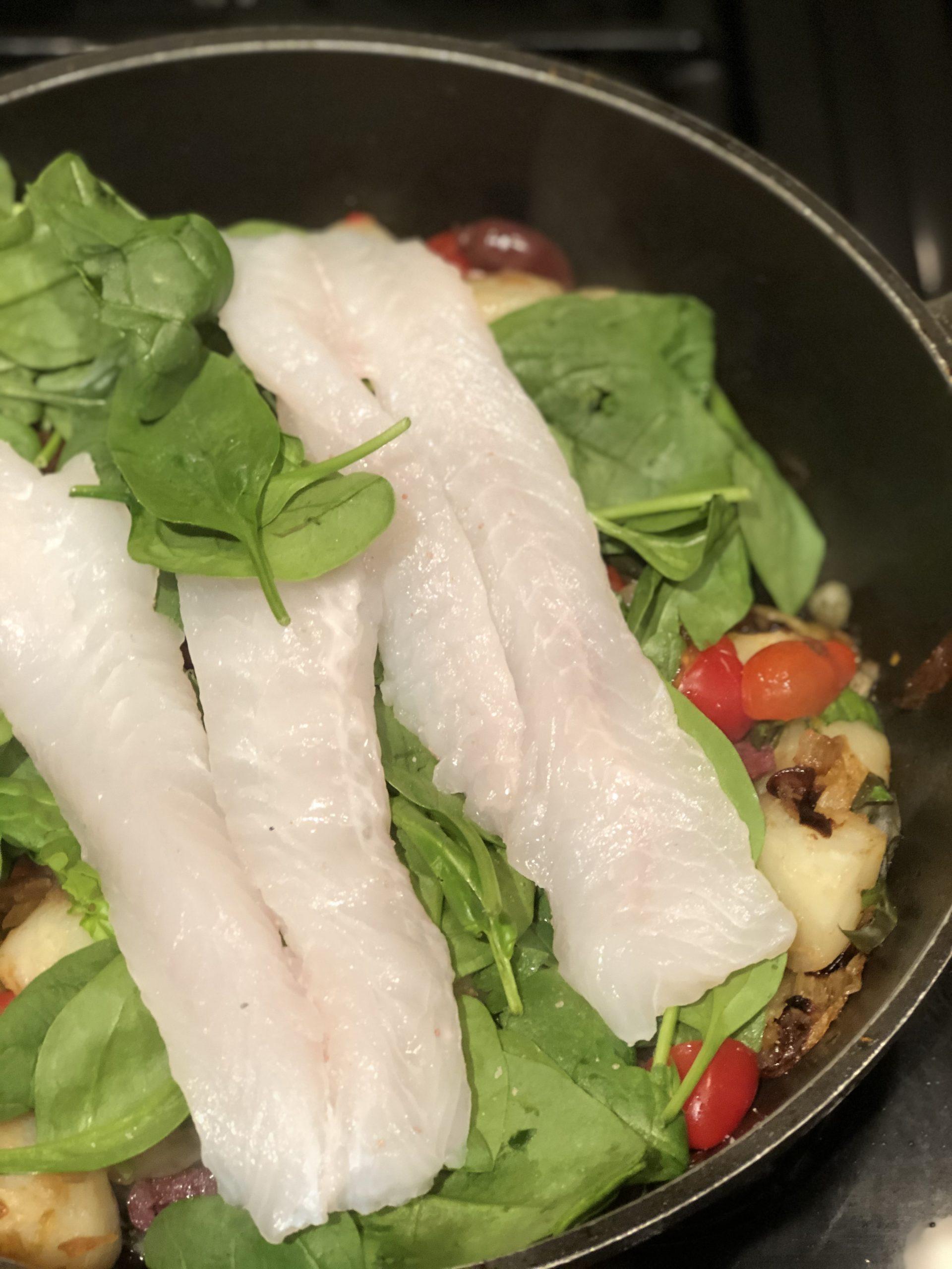 mediterranean white fish supper